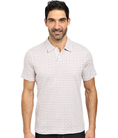 Perry Ellis - 2-Button Printed Pima Cotton Polo