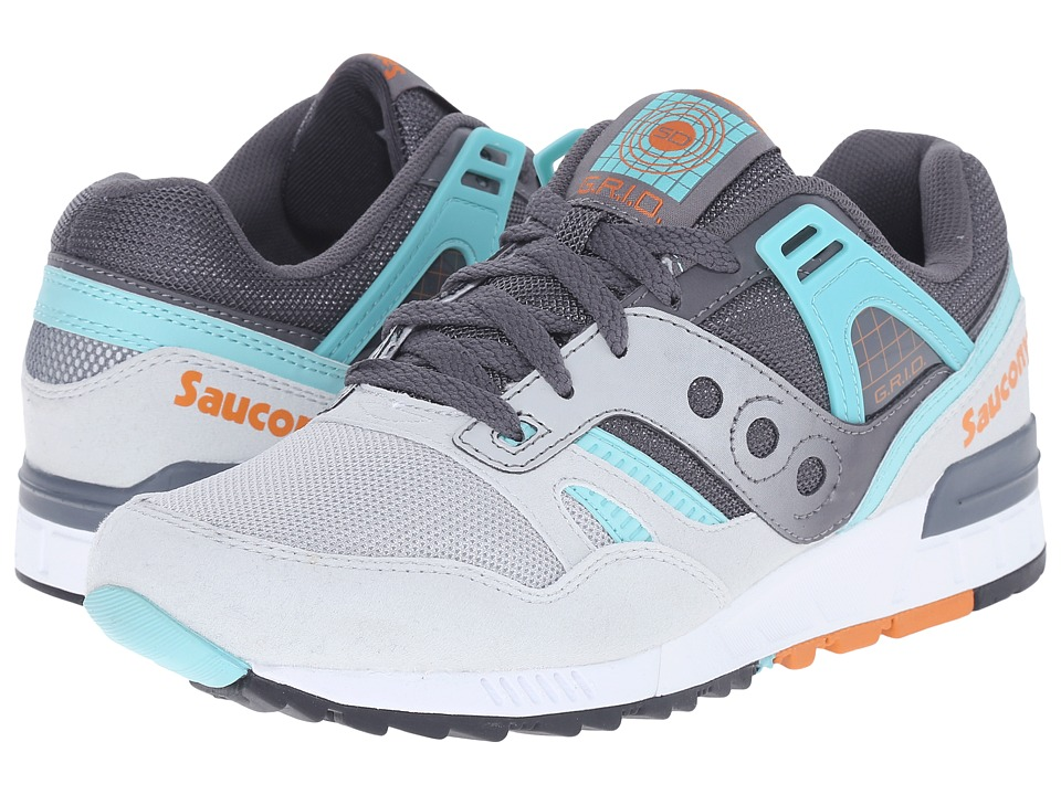 Saucony Originals Grid SD Grey/Teal Mens Classic Shoes