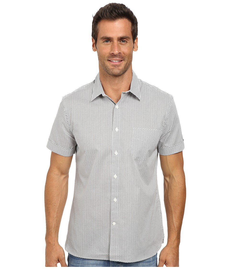 Perry Ellis Short Sleeve Mini Geo Print Shirt (Castlerock) Men