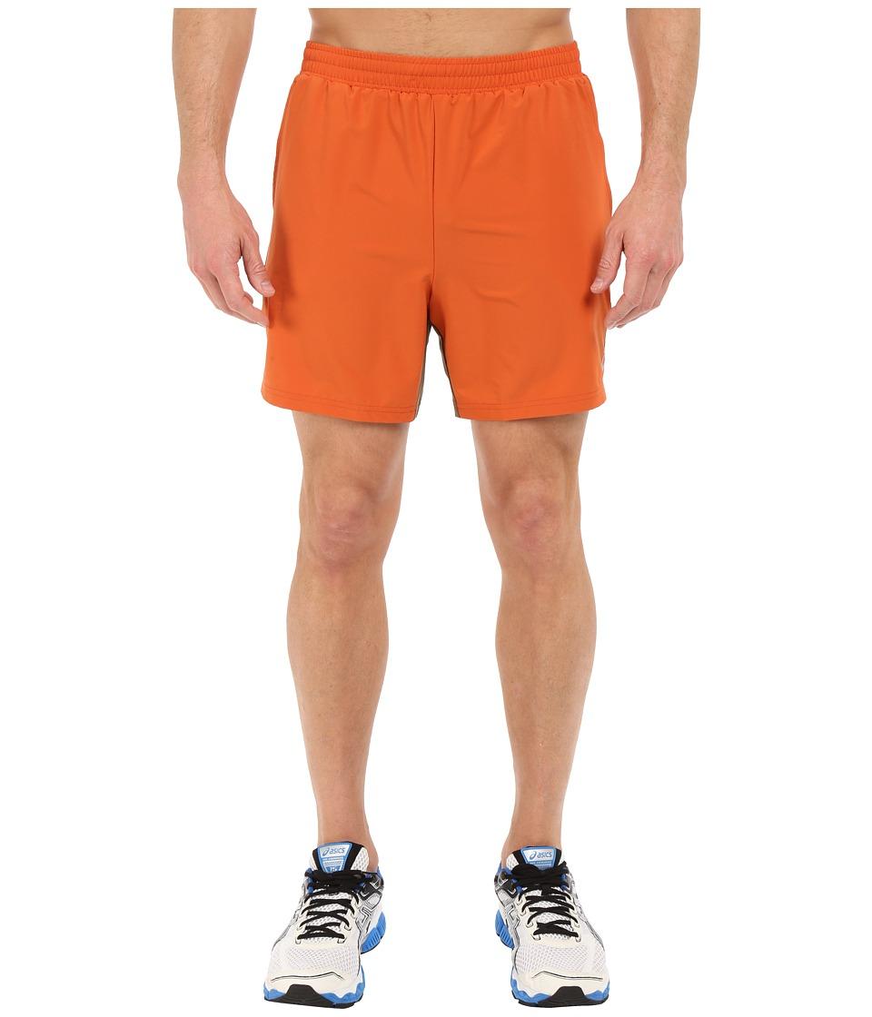 ASICS 2 N 1 Shorts 6 Rust Mens Shorts
