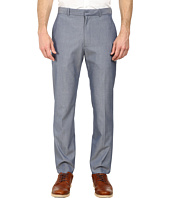 Perry Ellis - Slim Fit Sharkskin Flat Front Dress Pants