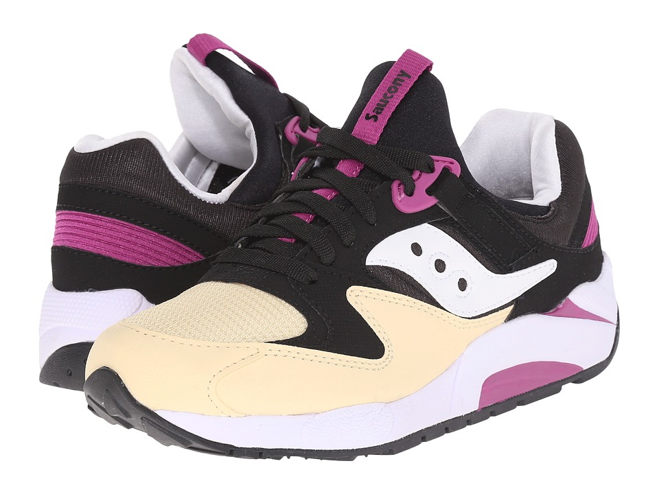 Saucony Originals Grid 9000 Black/Cream Mens Classic Shoes