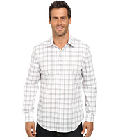 Perry Ellis - Long Sleeve Non-Iron Window Pane Pattern Shirt