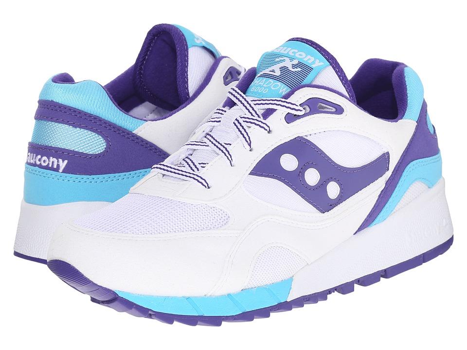 Saucony Originals Shadow 6000 White/Purple Mens Classic Shoes