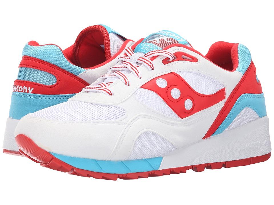 Saucony Originals Shadow 6000 White/Red Mens Classic Shoes