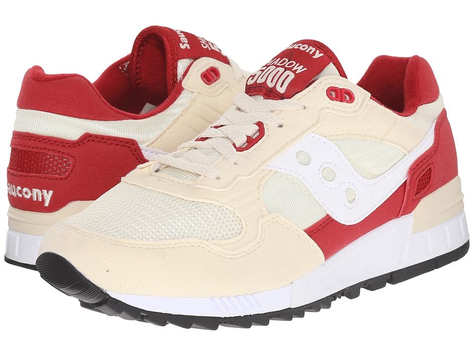 Saucony Originals Shadow 5000 Cream/Red Mens Classic Shoes