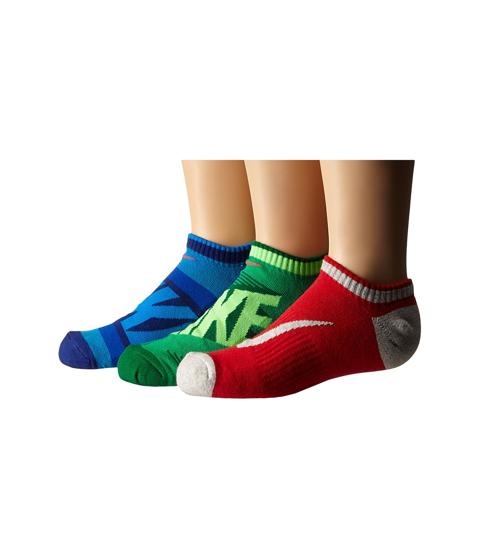 Nike Kids Graphic Cotton Cushion Low Cut 3 Pair Pack Toddler/Little Kid/Big Kid Multicolor Boys Shoes