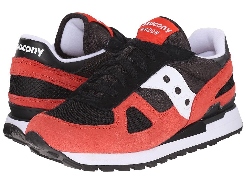 Saucony Originals Shadow Original Black/Light Red Mens Classic Shoes