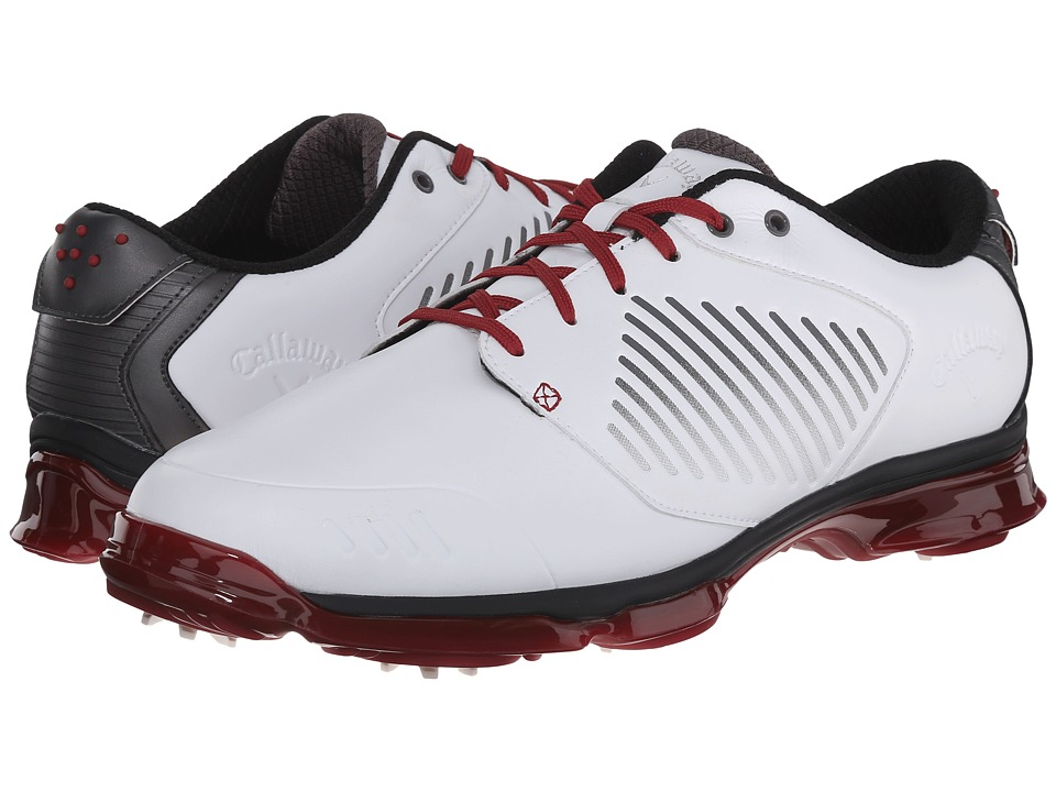 Callaway X Nitro White/Grey/Crimson Mens Golf Shoes