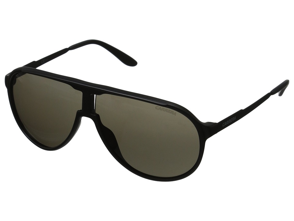 Carrera Carrera New Champion/S (Matte Black/Brown Grey) Fashion Sunglasses