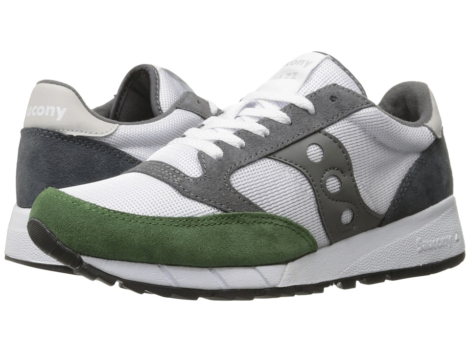Saucony Originals JAZZ 91 White/Green/Charcoal Mens Classic Shoes