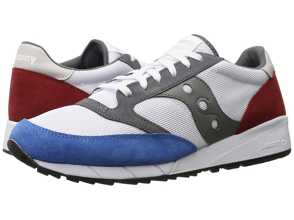 Saucony Originals JAZZ 91 White/Red/Blue Mens Classic Shoes