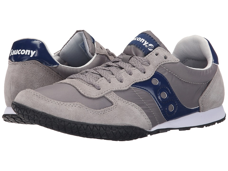 Saucony Originals Bullet Light Grey/Blue Mens Classic Shoes