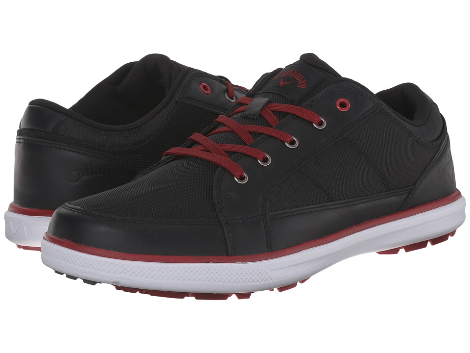 Callaway Del Mar Ballistic Black/Black/Crimson Mens Golf Shoes
