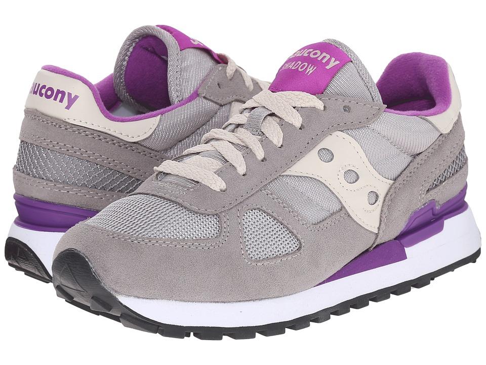 Saucony Originals Shadow Original Light Grey/Purple Womens Classic Shoes