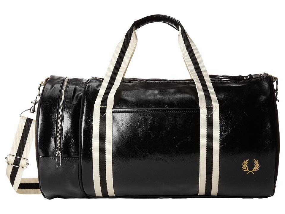 Fred Perry - Classic Barrel Bag (Black/Gold) Duffel Bags