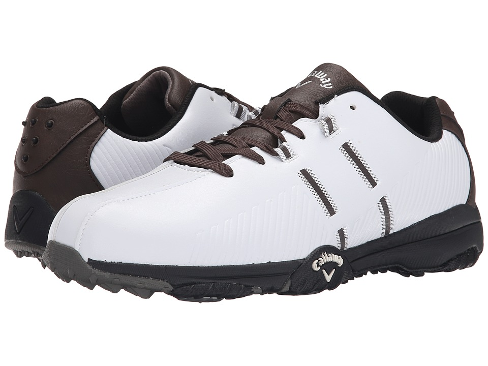 Callaway Chev Comfort White/Brown/Black Mens Golf Shoes