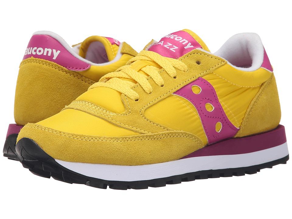 Saucony Originals Jazz Original Yellow/Berry Womens Classic Shoes