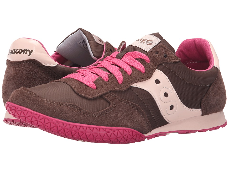 Saucony Originals Bullet Brown/Pink Womens Classic Shoes