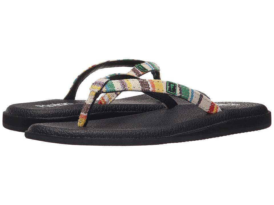 Flojos Madre Ivory/Yellow/Green/Black Womens Shoes
