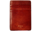 Bosca Dolce Collection Deluxe Front Pocket Wallet (Amber)