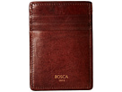 Bosca Dolce Collection Deluxe Front Pocket Wallet (Dark Brown)