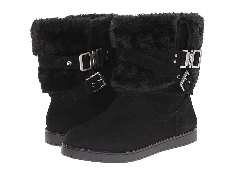 G by GUESS Aziena Black/Black Womens Pull on Boots