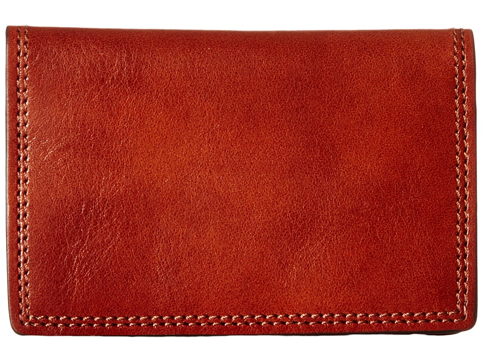 Bosca Dolce Collection Calling Card Case Amber Credit card Wallet