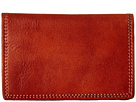 Bosca Dolce Collection Calling Card Case (Amber)