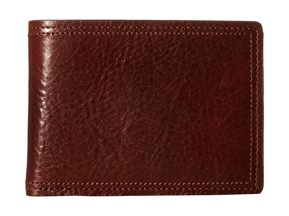 Bosca - Dolce Collection - Credit Card Wallet w/ ID Passcase (Dark Brown) Bi-fold Wallet