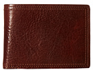 Bosca Dolce Collection Credit Card Wallet w/ ID Passcase (Dark Brown)