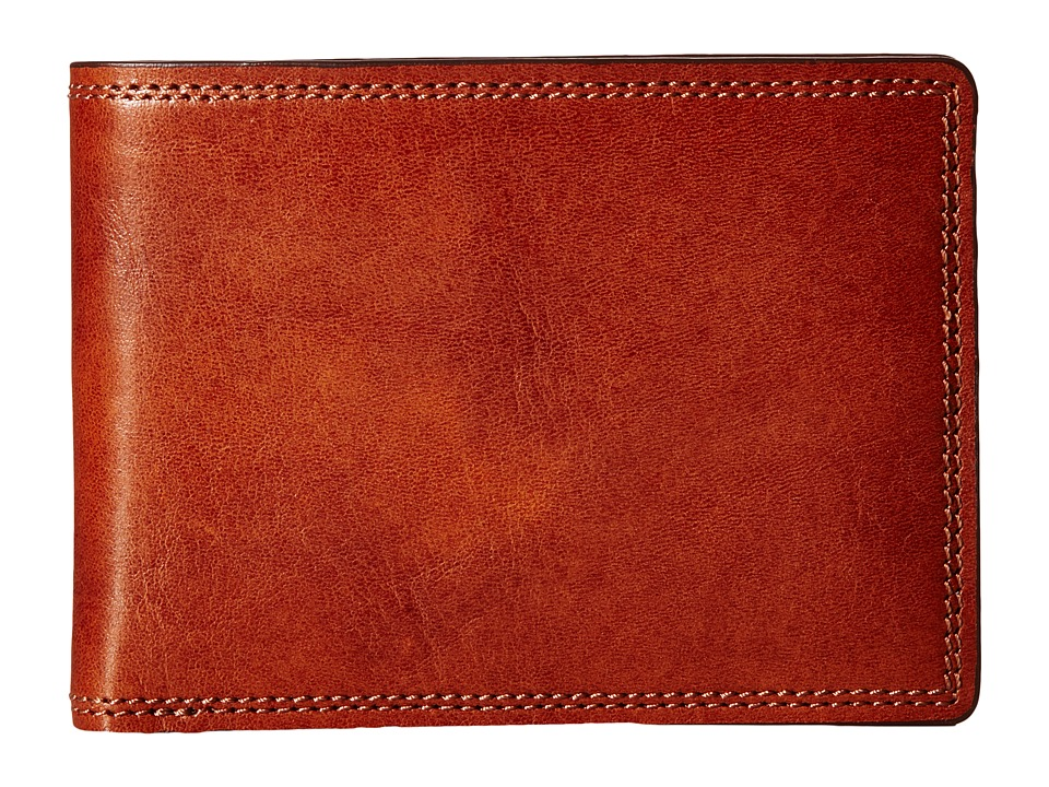 Bosca - Dolce Collection - Credit Card Wallet w/ ID Passcase (Amber) Bi-fold Wallet