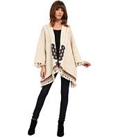 Chaser - Knit Fringed Kimono Sweater
