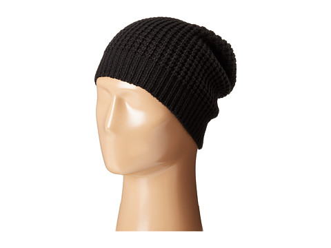 Hat Attack Waffle Stitch Slouchy - Black