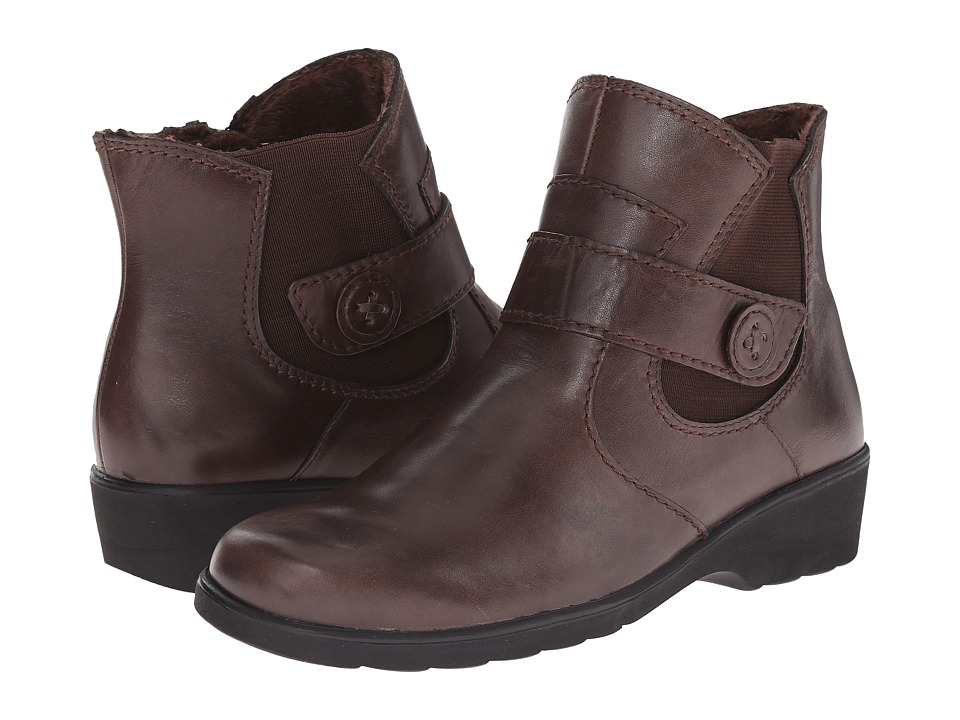 Spring Step Baleria Brown Womens Zip Boots