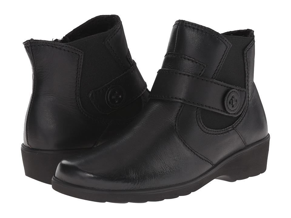 Spring Step Baleria Black Womens Zip Boots