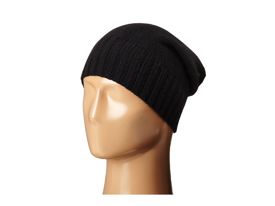 Hat Attack Cashmere Slouchy Black 1 Beanies