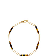 LAUREN by Ralph Lauren - 18 in Geometric Tortoise Metal with Ring and Toggle Necklace