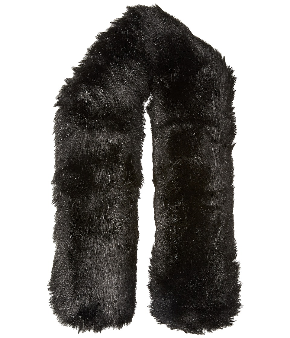 Hat Attack Faux Fur Long Collar Black 1 Scarves