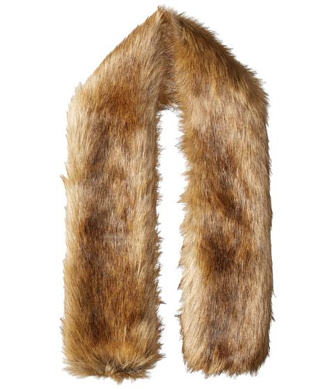 Hat Attack Faux Fur Long Collar - Natural Brown