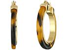 LAUREN Ralph Lauren Large Tortoise Clickit Hoop Earrings with Metal Inlay