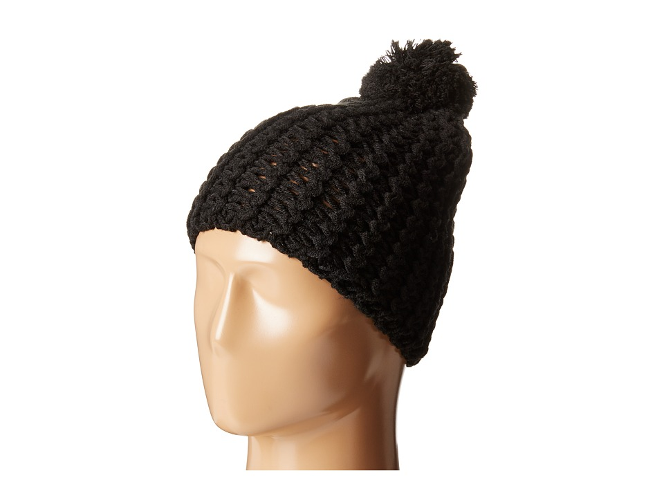 Hat Attack Chevron Knit Skully Black Knit Hats