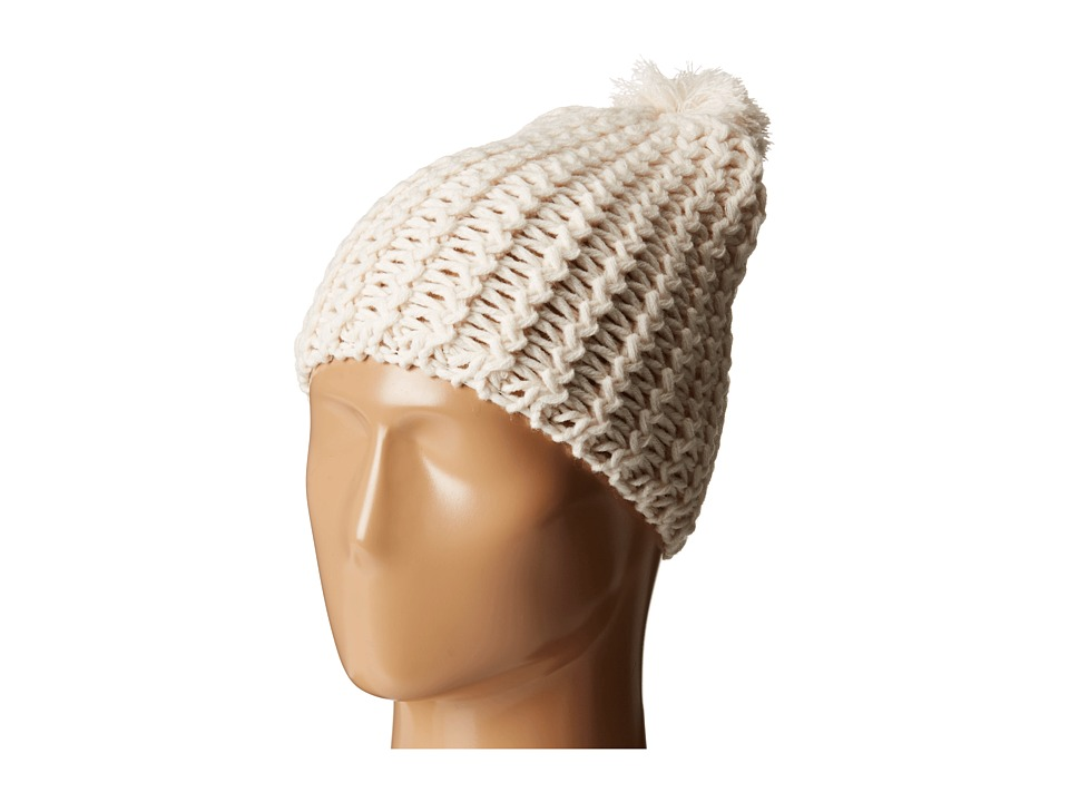 Hat Attack Chevron Knit Skully Ivory Knit Hats
