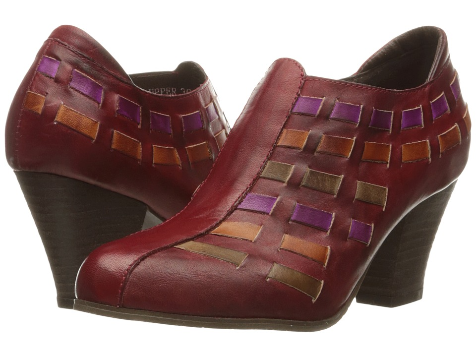 Spring Step Brilliance Dark Red Womens Shoes