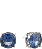 LAUREN by Ralph Lauren - Large Faceted Round Stone Stud Earrings