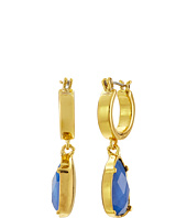 LAUREN by Ralph Lauren - Small Clickit Hoop Faceted Stone Drop Earrings