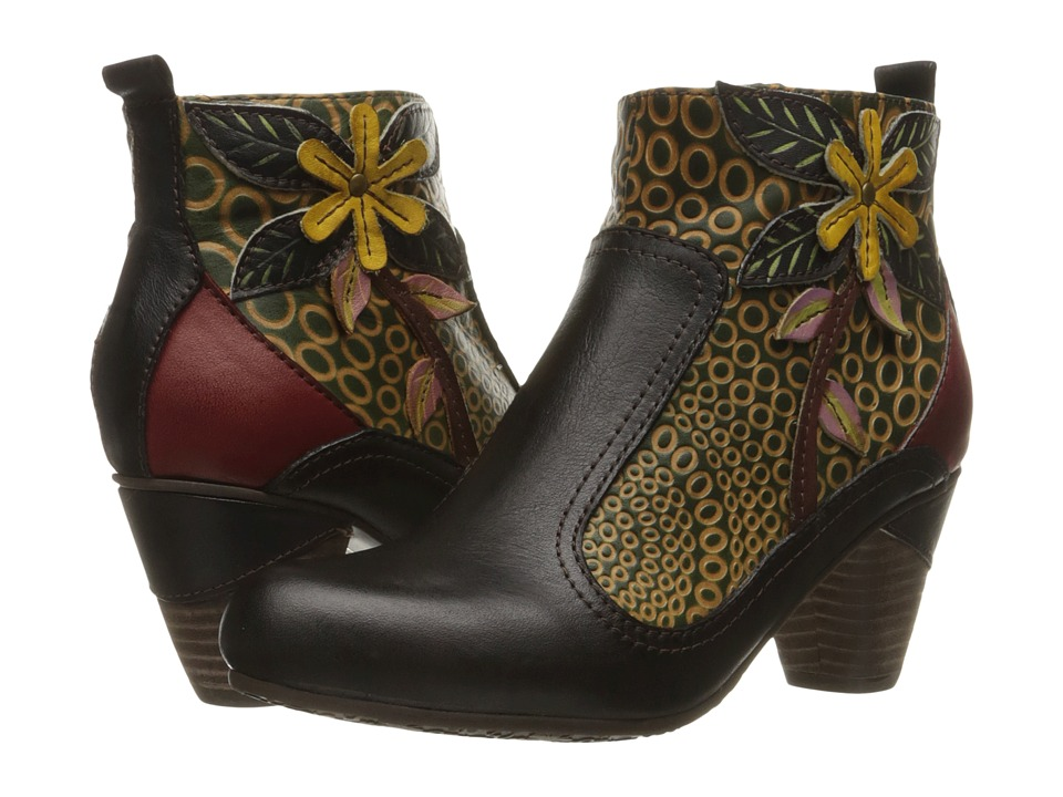 Vintage Style Boots Spring Step - Dramatic Black Womens Shoes $149.99 AT vintagedancer.com
