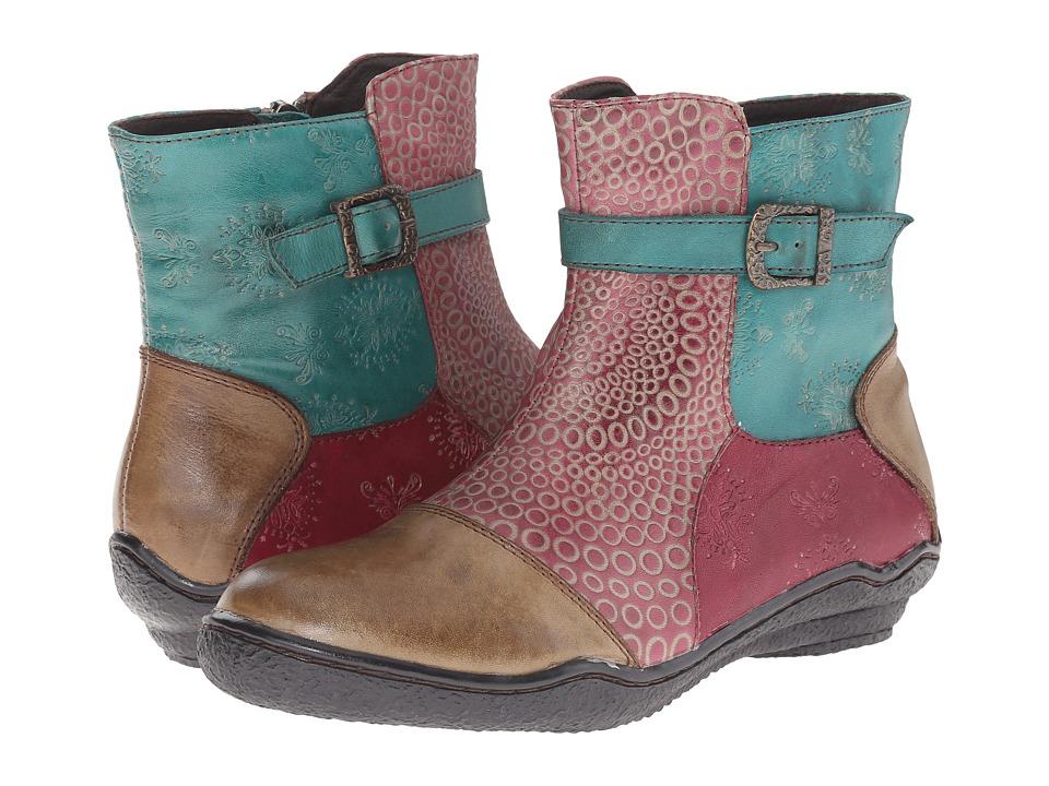 Vintage Style Boots Spring Step - Indigo Taupe Womens Shoes $139.99 AT vintagedancer.com