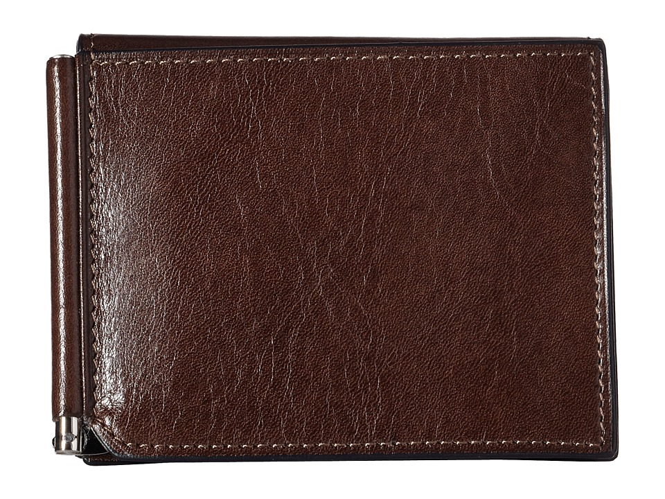 Bosca - Old Leather Collection - Money Clip w/ Pocket (Teak) Wallet