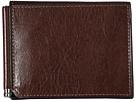 Bosca Old Leather Collection Money Clip w/ Pocket (Teak)